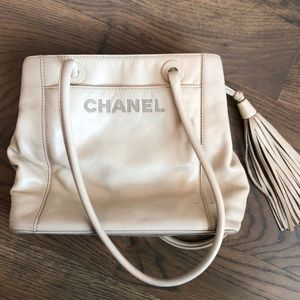 Authentic Chanel white leather purse